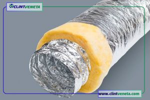 structure of Flexible duct with elastomeric insulation